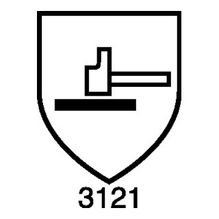 Handschuhe Hit Flex Touch Gr.7 weiß 98%Polyamid,2 %EL EN 388,EN 407 Kat.II 12 PA