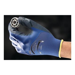 Handschuhe HyFlex 11-925 Gr.8 blau Spandex/Nylongewebe m.Nitril EN 388 Kat.II