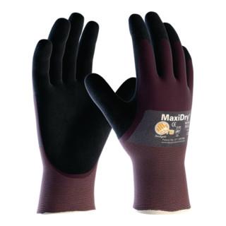 Handschuhe MaxiDry 56-425 Gr.7 lila/schwarz Nyl.m.Nitril/Nitril EN 388 Kat.II