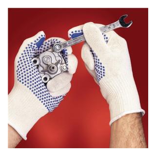 Ansell Baumwollhandschuhe Tiger Paw 76-301 mit Polyester Noppen weiß jetztbilligerkaufen