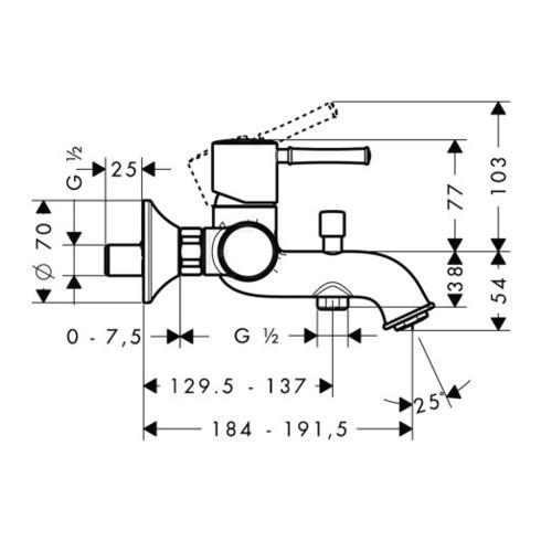 hansgrohe Einhebel-Wannenmischer TALIS CLASSIC DN 15 chrom