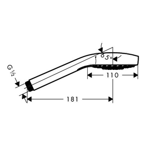 hansgrohe Handbrause CROMA SELECT S MULTI DN 15 EcoSmart Version 9 l/min weiß/chrom