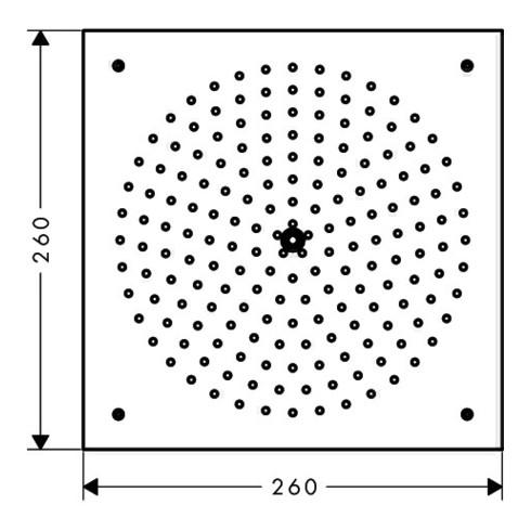 hansgrohe Kopfbrause AIR 1jet RAINDANCE DN 15, 260 x 260 mm chrom