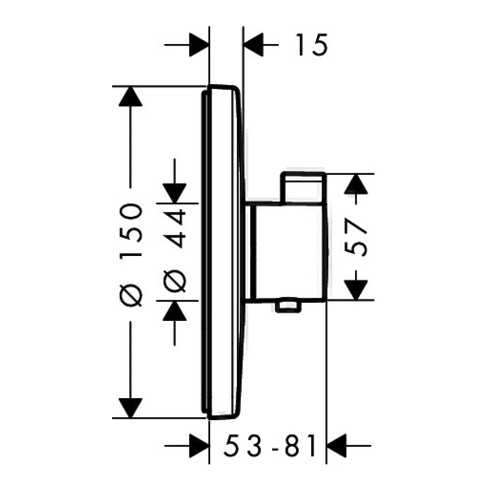 hansgrohe Thermostat ECOSTAT S Unterputz, 37 l/min chrom