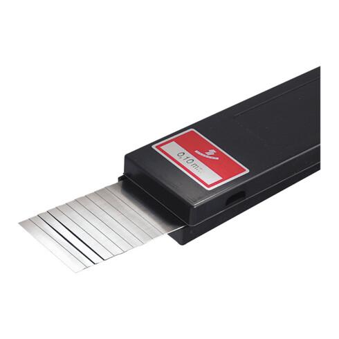 Hasberg Unterlagsfolien-Set 10-teilig 50x300 mm, C-Stahl, Dicke: 0,1 mm