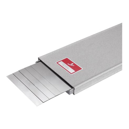 Hasberg Unterlagsfolien-Set 5-teilig 100x500 mm, rostfrei, Dicke: 0,5 mm