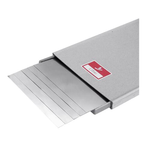 Hasberg Unterlagsfolien-Set 5-teilig 150x500 mm, rostfrei, Dicke: 0,1 mm