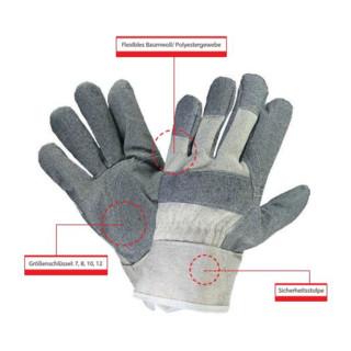 Hase Arbeitshandschuhe Melle Baumwoll-/Polyestergewebe mit Segeltuchstulpe