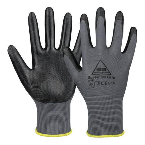 Hase Montagehandschuhe Superflex Grip aus Polyester/Nitril
