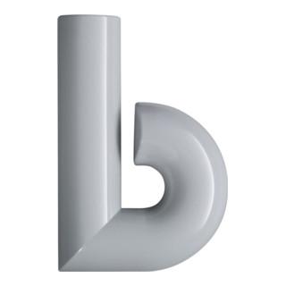 Hausnummer Buchstabe b Spezial-Polyamid 97 lichtgrau 137,5mm D.33mm HEWI