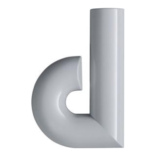 Hausnummer Buchstabe d Spezial-Polyamid 97 lichtgrau 134,4mm D.33mm HEWI