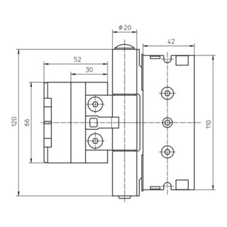 Haustürband BAKA protect 3D VA ma geb. 120kg Holzhaustüren