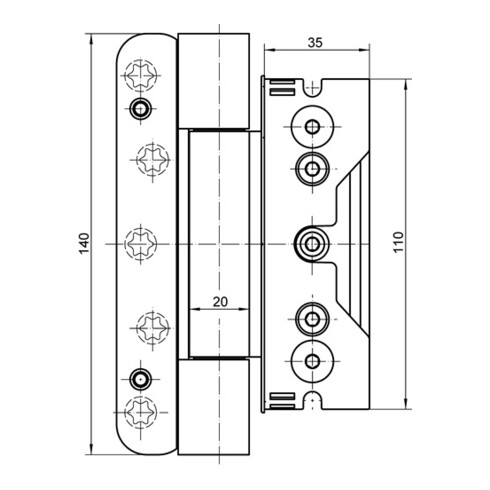 Haustürband Baka Protect 4010 3D STA weiß 160kg Holzhaustüren SIMONSWERK