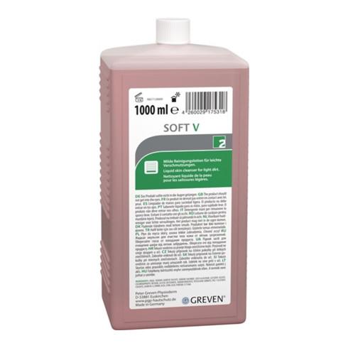 Hautreinigungslotion GREVEN® SOFT V 1l leichte Verschmutz.Flasche