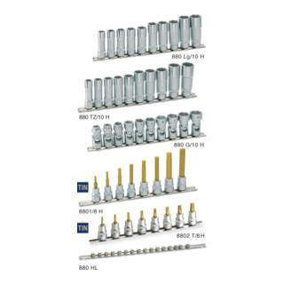 HAZET 6kt.-Gelenk-Steckschlüssel-Satz 880G/10H Vierkant hohl 10 mm (3/8 Zoll) Außen-Sechskant-Tractionsprofil 10 - 19 Anzahl Werkzeuge: 10