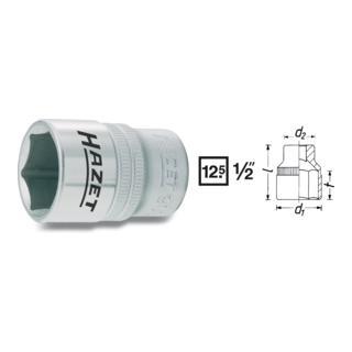 Hazet 6kt.-Steckschlüssel-Einsatz 900-17 · s: 17 mm ·  Vierkant hohl 12,5 mm (1/2 Zoll)