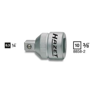 Hazet Adapter 8858-2 ·  Vierkant hohl 10 mm (3/8 Zoll)