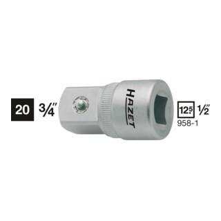 HAZET Adapter Vierkant hohl/Vierkant massiv mit Kugelsicherung