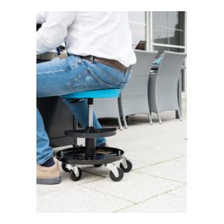 HAZET Arbeits-Sitz mit gepolsteter Sitzfläche, 150 kg Tragkraft
