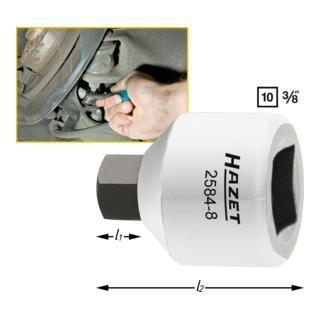 Hazet Bremssattel-Schraubendreher-Steckschlüssel-Einsatz 2584-8 · s: 8 mm