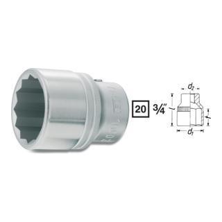 Hazet Doppel-6kt.-Steckschlüssel-Einsatz 1000AZ · s: 1.7/16 Zoll ·  Vierkant hohl 20 mm (3/4 Zoll)