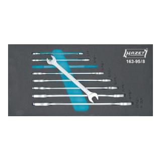 HAZET Doppel-Maulschlüssel-Satz 163-95/8 Außen-Sechskant Profil 6x7 - 21x22 Anzahl Werkzeuge: 8
