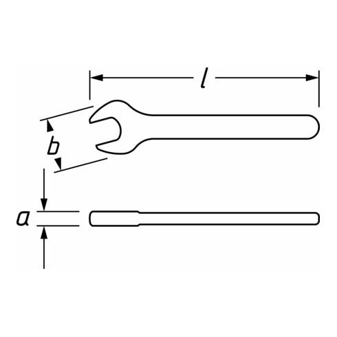HAZET Einmaulschlüssel schutzisoliert 450KV-12 Außen-Sechskant Profil 12 mm