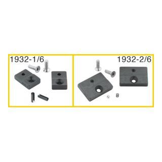 Hazet Ersatzteil-Satz: 1 Paar Prägebacken, 15 mm breit, 2 Schrauben, 2 Spannhülsen