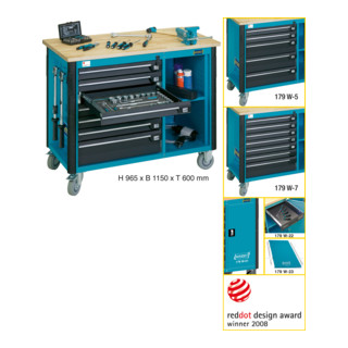 Hazet Fahrbare Werkbank 179W-7 Ersatz- und EinzelteileAllgemeine Werkstattausrüstung