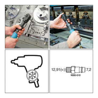 HAZET Hochleistungs-Ratschenschrauber 9022P-1 Vierkant massiv 12,5 mm (1/2 Zoll)