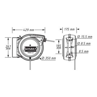 HAZET Kabel-Aufroller 9040D-2.5