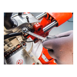 HAZET Knarren-Ring-Maulschlüssel-Satz 606N/12 Außen-Doppel-Sechskant-Tractionsprofil 8 - 19 Anzahl Werkzeuge: 12