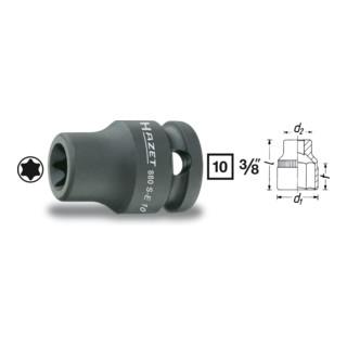 HAZET Kraftsteckschlüsseleinsatz 3/8'' Außen-TORX®
