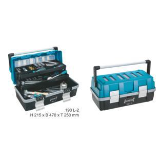 HAZET Kunststoff-Werkzeugkasten 190L-2 ∙ Abmessung: 470 x 250 x 215