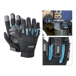 Hazet Mechaniker-Handschuhe mit Protektoren Kunstleder/PVC schwarz
