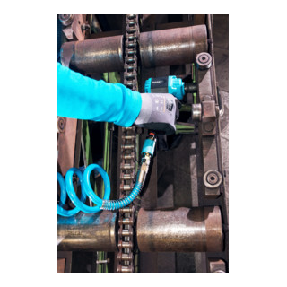 HAZET Mini Twin Turbo Schlagschrauber, extra kurz 9012MTT Lösemoment maximal: 1600 Nm Vierkant massiv 12,5 mm (1/2 Zoll) Hochleistungs-Doppelhammer-Schlagwerk