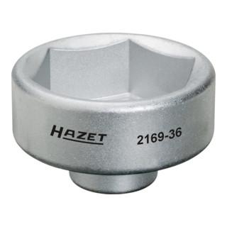 HAZET Ölfilter-Schlüssel 2169-36 Vierkant hohl 10 mm (3/8'') Außen-Sechskant Profil