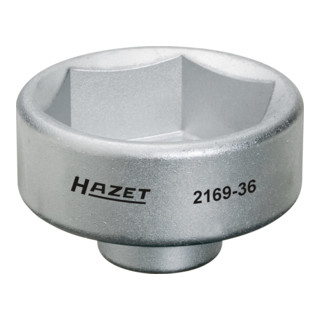 HAZET Ölfilter-Schlüssel 2169-36 Vierkant hohl 10 mm (3/8 Zoll) Außen-Sechskant Profil