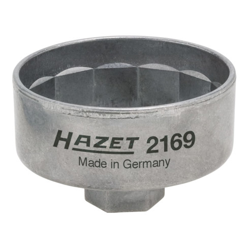 HAZET Ölfilter-Schlüssel 2169 Vierkant hohl 10 mm (3/8 Zoll) Außen-14-kant Profil
