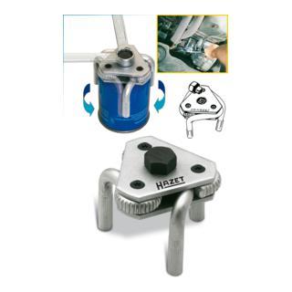 Hazet Ölfilter-Schlüssel 2172 ·  Vierkant hohl 10 mm (3/8 Zoll) Innenvierkant Antrieb 10 = 3/8 Zoll