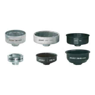 HAZET Ölfilter-Schlüssel-Satz 2169/6 Vierkant hohl 10 mm (3/8 Zoll), Vierkant hohl 12,5 mm (1/2 Zoll) Außen-Sechskant Profil Anzahl Werkzeuge: 6