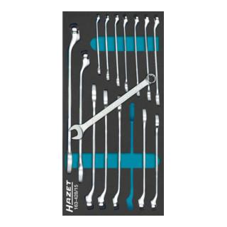 HAZET Ring-Maulschlüssel-Satz 163-428/15 Außen-Doppel-Sechskant Profil 6 - 22 Anzahl Werkzeuge: 15