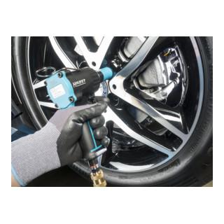 HAZET Schlagschrauber extra kurz 9012M Lösemoment maximal: 1100 Nm Vierkant massiv 12,5 mm (1/2 Zoll) Jumbo Hammer-Schlagwerk