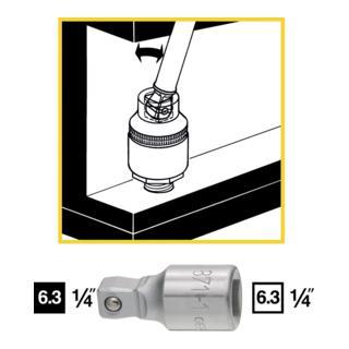 Hazet Schwenkbare Verlängerung 871-1 ·  Vierkant hohl 6,3 mm (1/4 Zoll)