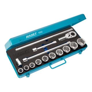 HAZET Steckschlüssel-Satz 1000 Vierkant hohl 20 mm (3/4 Zoll) Anzahl Werkzeuge: 15