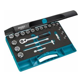HAZET Steckschlüssel-Satz 880-2 Vierkant hohl 10 mm (3/8 Zoll) Außen-Sechskant-Tractionsprofil Anzahl Werkzeuge: 22