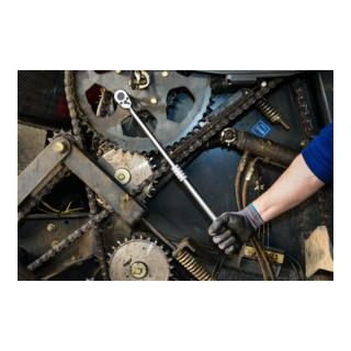 HAZET Umschaltknarre, ausziehbar 916LG Vierkant massiv 12,5 mm (1/2 Zoll)
