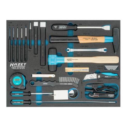HAZET Universal-Satz 163-372/25 Außen-Sechskant Profil Anzahl Werkzeuge: 25
