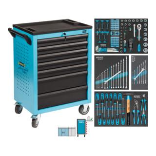 HAZET Werkstattwagen Assistent 178 N-7 mit 147 Werkzeugen 178N-7/147 Schubladen flach: 5x 80x527x348 mm Schubladen hoch: 2x 165x527x348 mm Anzahl Werkzeuge: 147