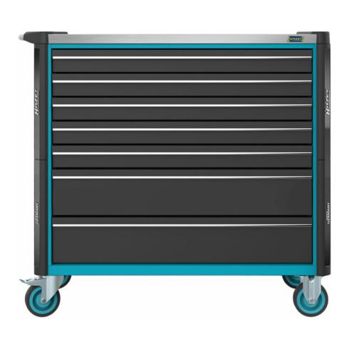 HAZET Werkstattwagen Assistent 179NXXL-7/340 Schubladen flach: 5x 77x870x398 mm Schubladen hoch: 2x 162x870x398 mm